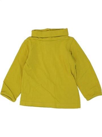 T-shirt col roulé fille JBC marron 3 mois hiver #1460015_1