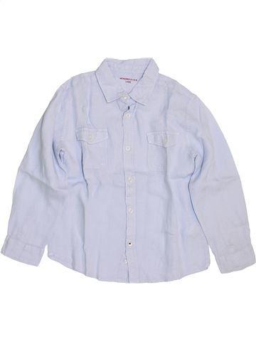 Chemise manches longues garçon MONOPRIX blanc 6 ans été #1460197_1