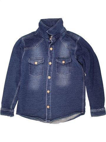 Camisa de manga larga niño MANGO azul 10 años invierno #1460321_1