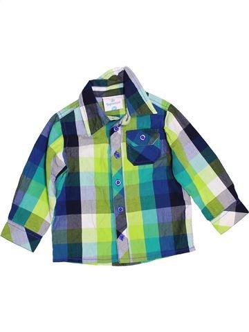 Chemise manches longues garçon TOPOMINI bleu 18 mois hiver #1460401_1