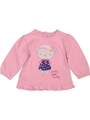 Camiseta de manga larga niña GEORGE rosa 3 meses invierno #1460568_1