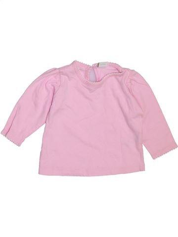 T-shirt manches longues fille DISNEY rose 6 mois hiver #1460798_1
