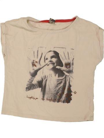 T-shirt manches courtes fille TAPE À L'OEIL beige 6 ans été #1461249_1