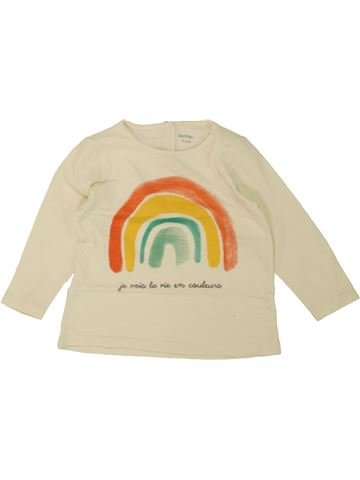 T-shirt manches longues fille BOUT'CHOU beige 12 mois hiver #1461490_1