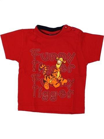 T-shirt manches courtes garçon DISNEY rouge 6 mois été #1461536_1