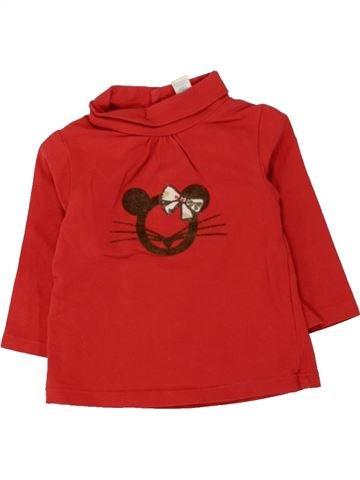 T-shirt col roulé fille OBAIBI rouge 6 mois hiver #1461657_1