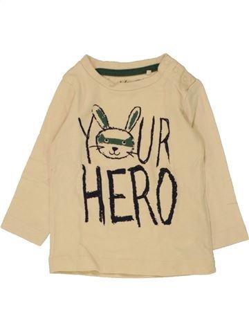 T-shirt manches longues garçon KIABI beige 6 mois hiver #1462055_1