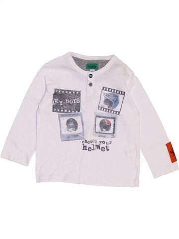 T-shirt manches longues garçon MARÈSE blanc 12 mois hiver #1462194_1
