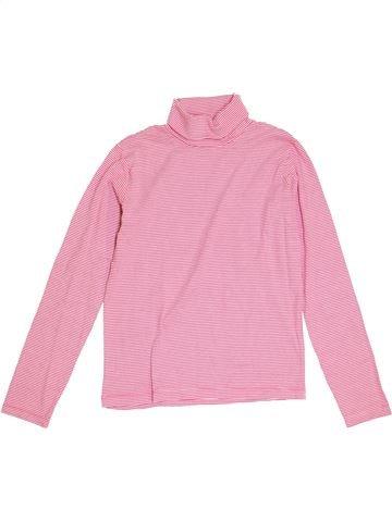 T-shirt col roulé fille PETIT BATEAU rose 12 ans hiver #1462203_1
