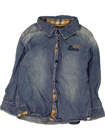 Chemise manches longues garçon OKAIDI bleu 2 ans hiver #1462356_1