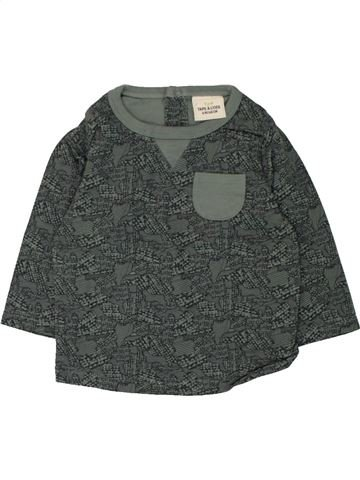 T-shirt manches longues garçon TAPE À L'OEIL gris 6 mois hiver #1462464_1