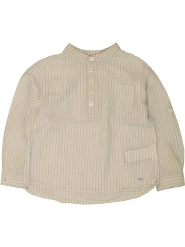 Camisa de manga larga niño CYRILLUS beige 2 años invierno #1462530_1