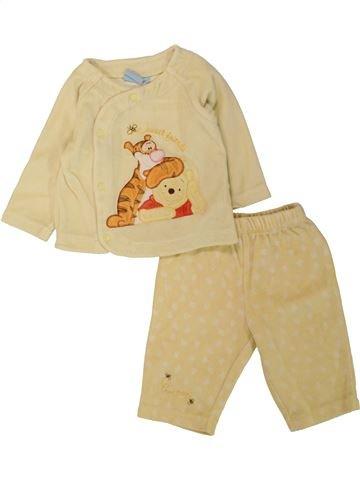 Pyjama 2 pièces fille DISNEY beige 6 mois hiver #1462548_1