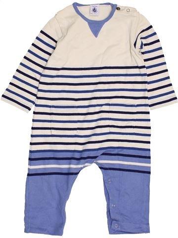 Combinaison longue garçon PETIT BATEAU bleu 12 mois hiver #1462559_1