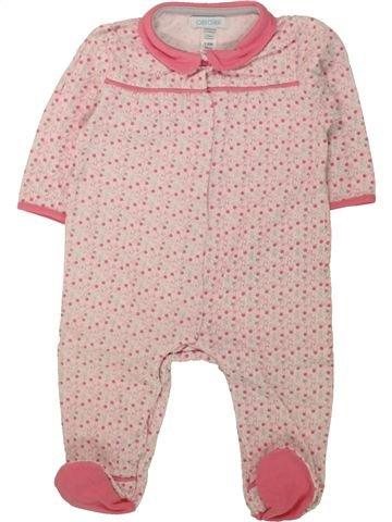 Pyjama 1 pièce fille OKAIDI rose 6 mois été #1462629_1