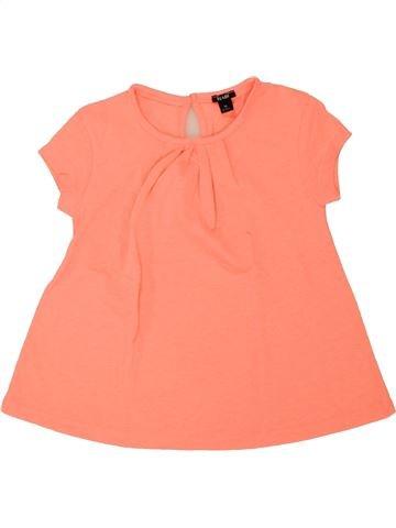 T-shirt manches courtes fille KIABI beige 4 ans été #1462641_1