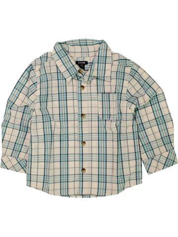 Chemise manches longues garçon KIABI blanc 18 mois hiver #1462895_1