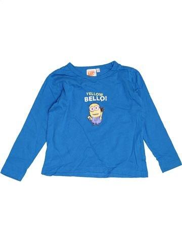 T-shirt manches longues garçon LES MINIONS bleu 4 ans hiver #1463022_1