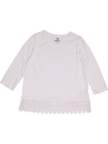 T-shirt manches longues fille PEPPERTS blanc 12 ans hiver #1463072_1