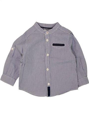 Chemise manches longues garçon OKAIDI gris 12 mois hiver #1463273_1
