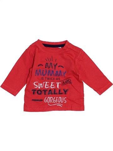 T-shirt manches longues garçon PRENATAL rose 1 mois hiver #1463549_1