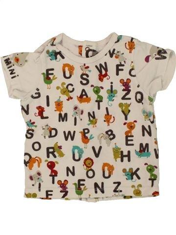 T-shirt manches courtes garçon CATIMINI beige 3 mois été #1463892_1