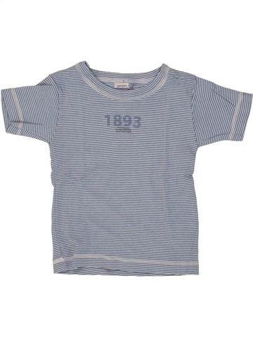T-shirt manches courtes garçon PETIT BATEAU gris 4 ans été #1463971_1