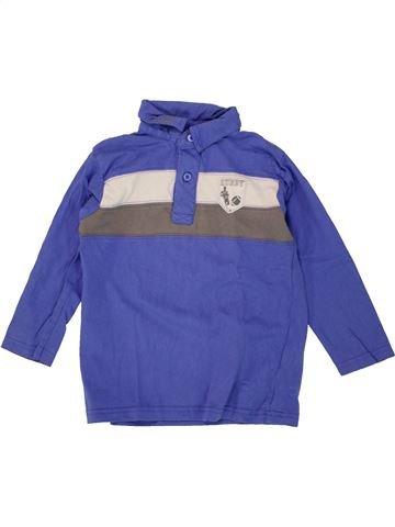Polo manches longues garçon TOUT COMPTE FAIT violet 4 ans hiver #1463986_1