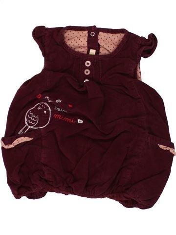 Robe fille GEMO marron 3 mois hiver #1464147_1