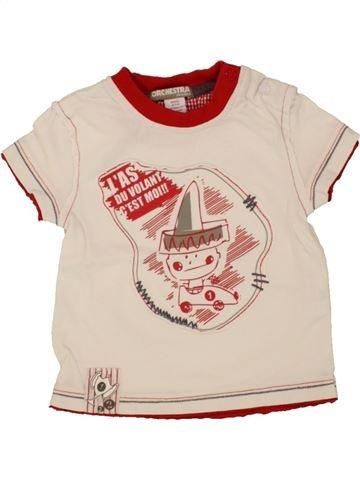T-shirt manches courtes garçon ORCHESTRA bleu 6 mois été #1464191_1