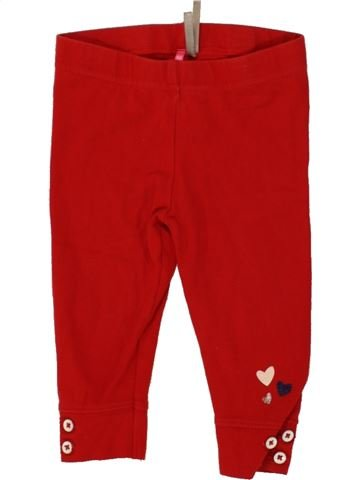 Legging fille ORCHESTRA rouge 12 mois hiver #1464194_1