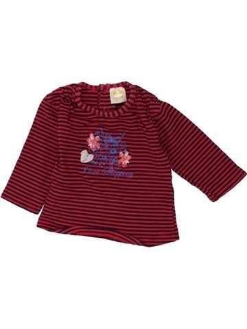 T-shirt manches longues fille DIRKJE rouge 6 mois hiver #1464764_1