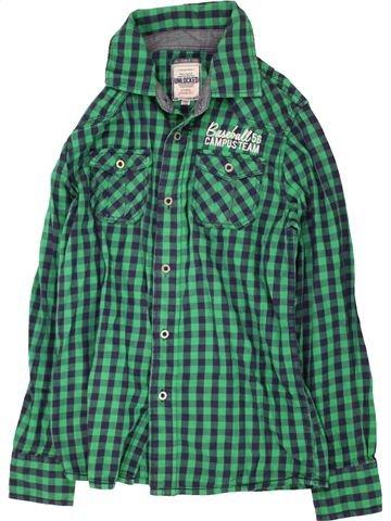 Chemise manches longues garçon UNLOCKED vert 11 ans hiver #1465061_1