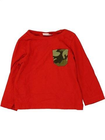 T-shirt manches longues garçon MINI CLUB rouge 12 mois hiver #1465310_1