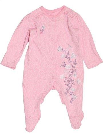 Pijama de 1 pieza niña GEORGE rosa 3 meses verano #1465426_1