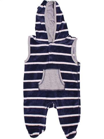 Pyjama 1 pièce garçon TOPOMINI bleu 1 mois hiver #1465474_1