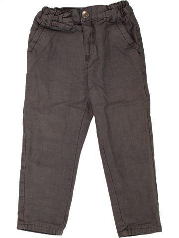 Pantalon garçon OBAIBI marron 2 ans hiver #1465818_1
