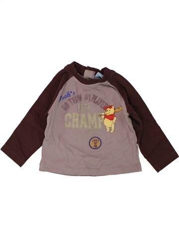 T-shirt manches longues garçon DISNEY violet 12 mois hiver #1466235_1