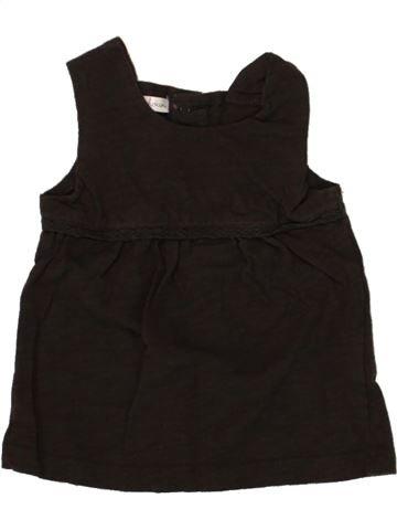 T-shirt sans manches fille KIABI noir 9 mois été #1468606_1