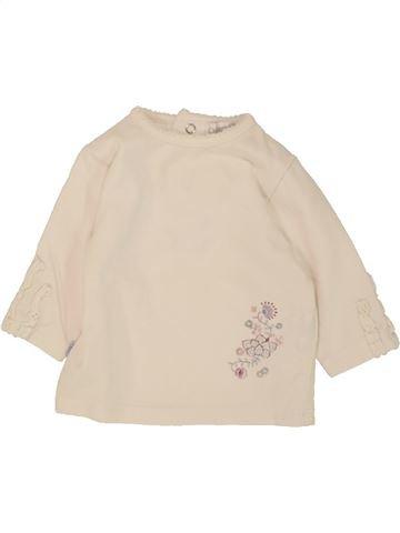 T-shirt manches longues fille OKAIDI bleu 1 mois hiver #1468717_1