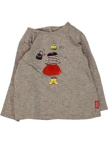 T-shirt manches longues fille NANO & NANETTE beige 12 mois hiver #1468743_1