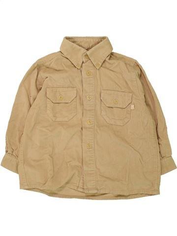Chemise manches longues garçon MAYORAL beige 3 ans hiver #1468987_1