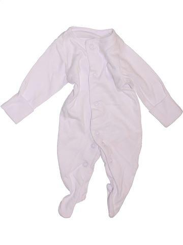 Pyjama 1 pièce unisexe F&F blanc prématuré été #1469278_1
