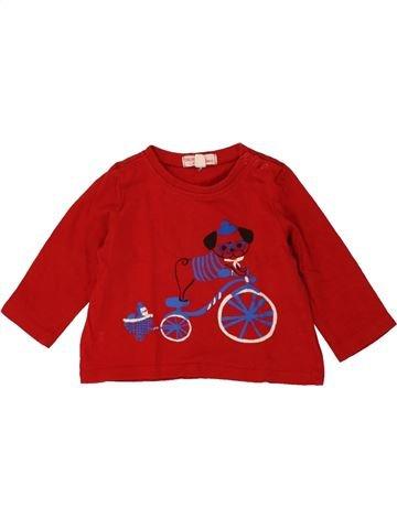 T-shirt manches longues garçon DPAM rouge 6 mois hiver #1469622_1