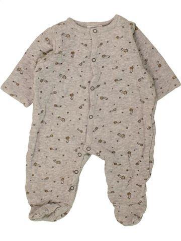 Pyjama 1 pièce fille BOUT'CHOU gris 3 mois été #1469966_1