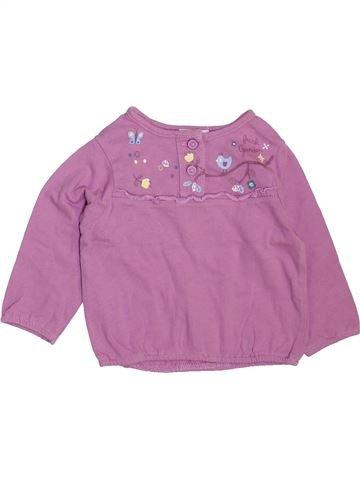 T-shirt manches longues fille TEX violet 6 mois hiver #1470736_1
