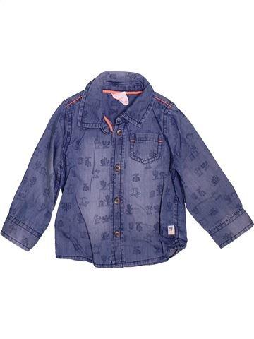 Camisa de manga larga niño HEMA azul 12 meses invierno #1472733_1