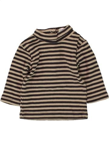 T-shirt col roulé garçon KIABI marron 3 mois hiver #1473385_1