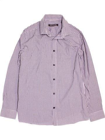 Chemise manches longues garçon FLIPBACK violet 12 ans hiver #1473485_1