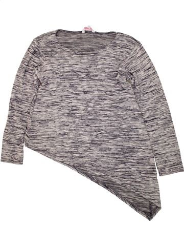 Pull fille MISS E-VIE gris 12 ans hiver #1473579_1